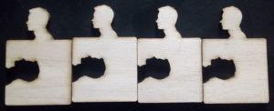 laser cutten puzzel onderzetter sihouette